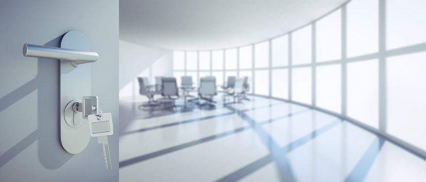sala de reuniões aberta