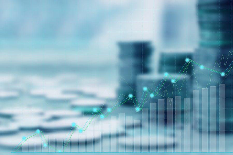moedas e gráficos