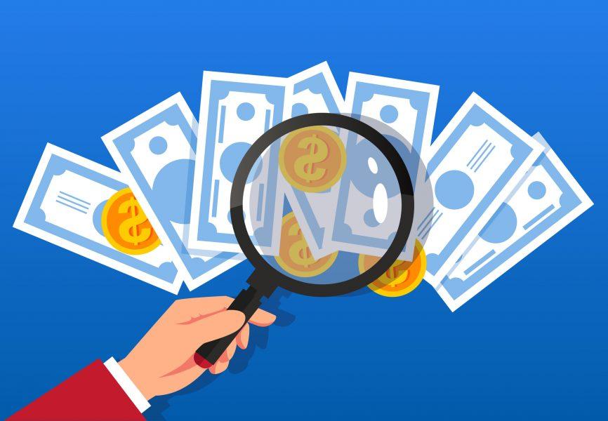 lupa mostrando dinheiro
