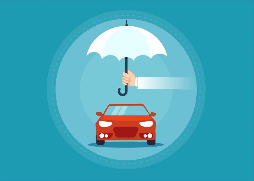 vetor de carro protegido
