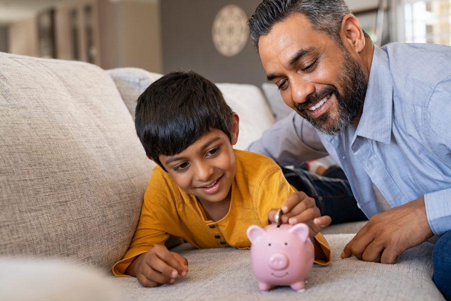 educação financeira na vida de uma criança